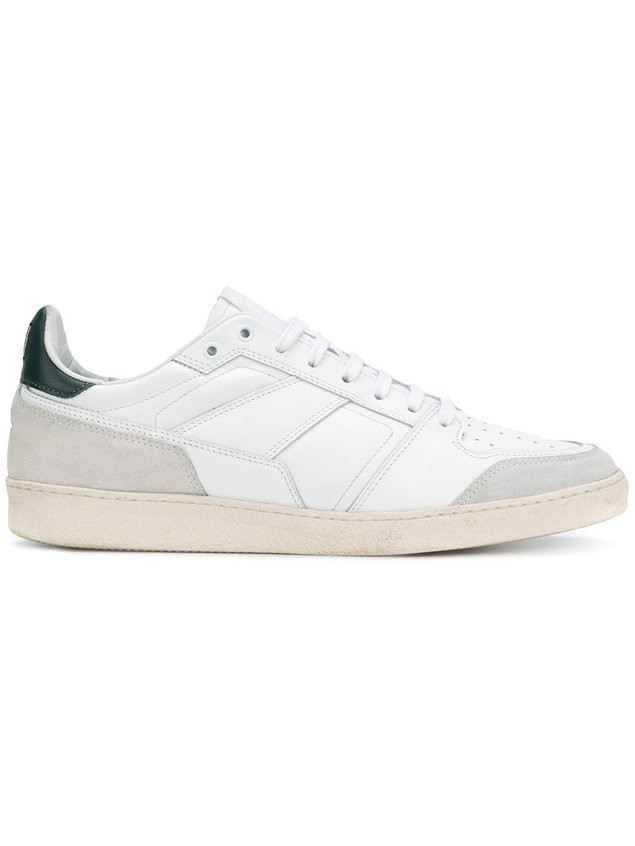 Ami Alexandre Mattiussi Thin Laced Low Trainers - Green