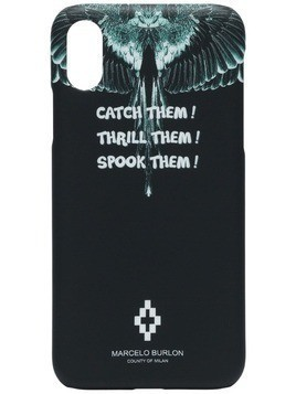 Marcelo Burlon County Of Milan Wings iPhone X CSS case - Blue