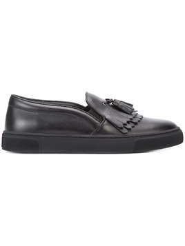Louis Leeman fringed slip-on sneakers - Black
