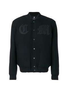 Marcelo Burlon County Of Milan patch bomber jacket - Black