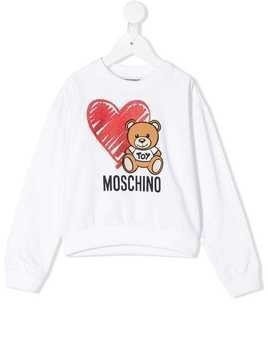 Moschino Kids Toy Bear sweatshirt - White