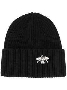 Markus Lupfer jewelled bee beanie - Black