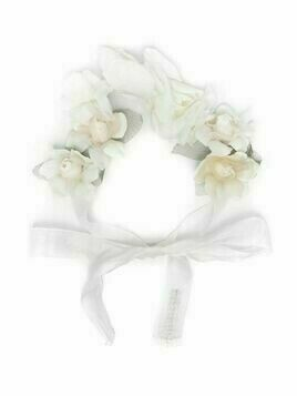 La Stupenderia floral bow-tied hairband - Neutrals