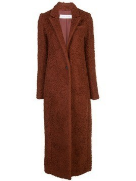Marina Moscone single-breasted shearling coat - Brown