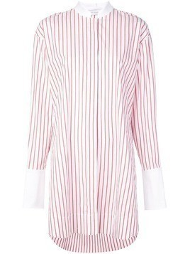 Marina Moscone oversized striped shirt - White