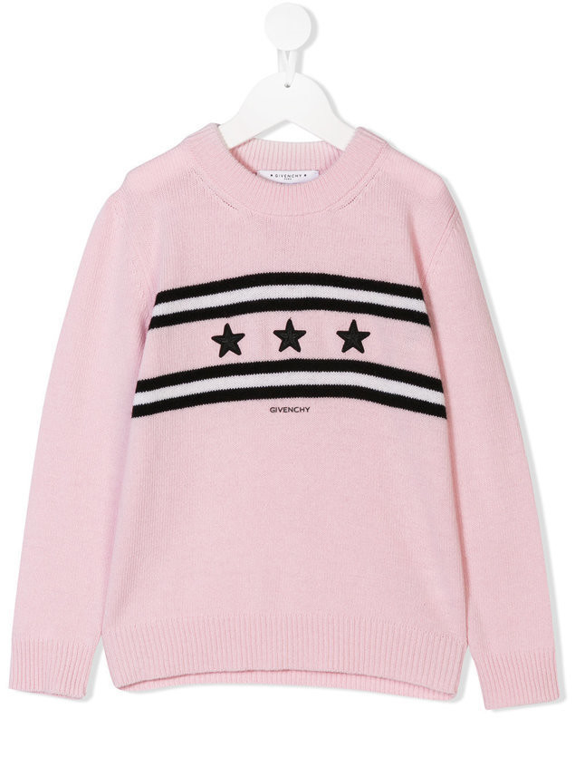 Givenchy Kids crew neck sweater - Pink & Purple