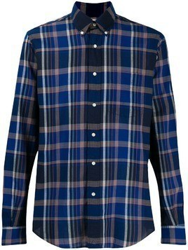 Aspesi check long-sleeve shirt - Blue