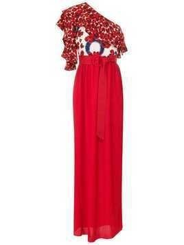 Isolda Abalone maxi dress - Red