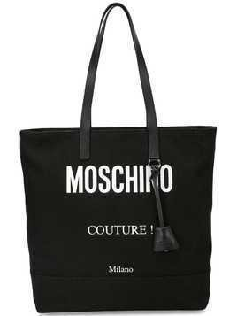 Moschino logo print tote bag - Black