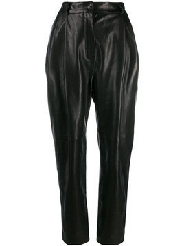 Carmen March high-rise tapered trousers - Black