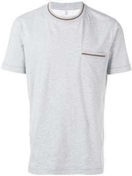 Brunello Cucinelli chest pocket T-shirt - Grey