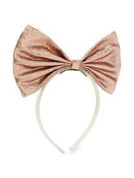 Hucklebones London Giant Bow hairband - PINK