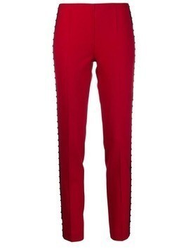 P.A.R.O.S.H. stud-embellished skinny trousers - Red