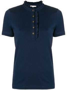 Tory Burch Emily polo shirt - Blue