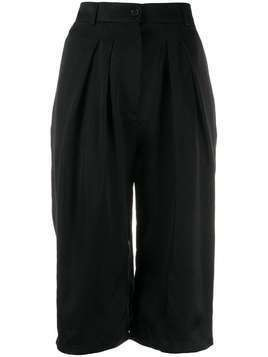 Rochas pleated knee-length shorts - Black