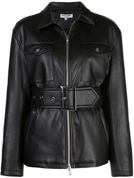 Opening Ceremony belted faux leather jacket - Black
