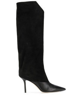 Jimmy Choo Brelan 85 suede knee high boots - Black