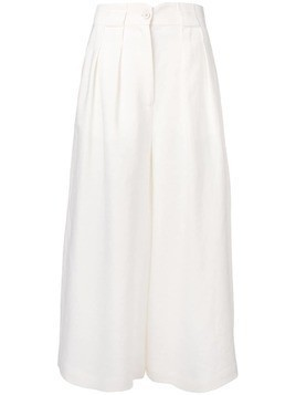 Dusan high-waist flared trousers - White