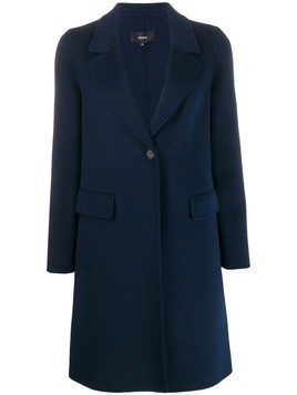 Arma single breasted coat - Blue