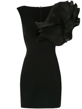 Isabel Sanchis oversized ruffle dress - Black
