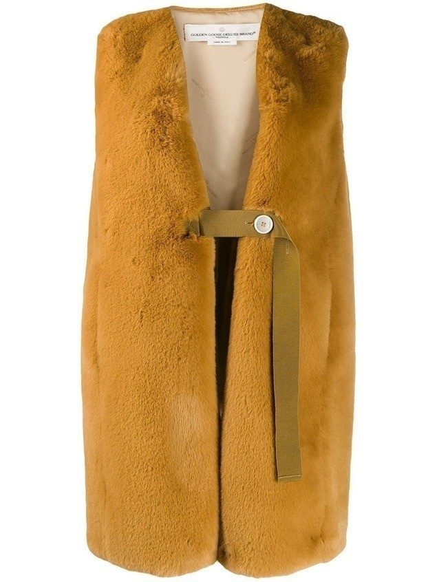 Golden Goose faux fur gilet coat - Yellow