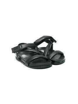 Cinzia Araia Kids padded touch-strap sandals - Black