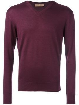 Cruciani V neck sweater - Red