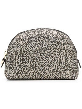 Borbonese small zipped make-up bag - Neutrals