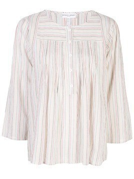 Apiece Apart striped loose fit blouse - White