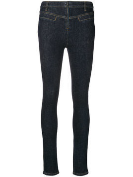 Victoria Beckham mid rise skinny jeans - Blue