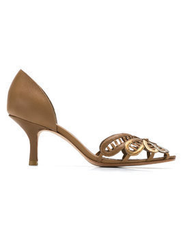 Sarah Chofakian leather pumps - Metallic