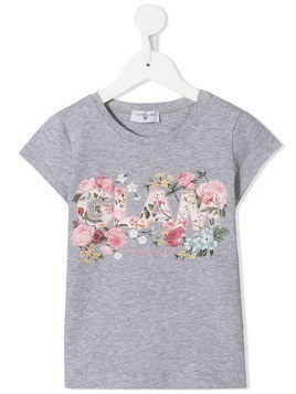 Monnalisa Glam embroidered T-shirt - Grey
