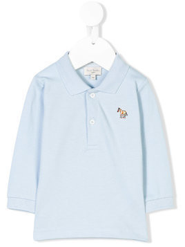 Paul Smith Junior horse embroidered polo shirt - Blue