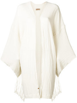 Caravana long sleeve open vest - White
