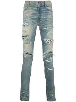 Amiri - art patch printed jeans - Herren - Cotton/Spandex/Elastane - 30 - Blue