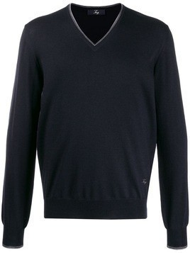 Fay elbow patch jumper - Blue