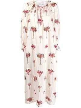 Antik Batik palm printed dress - White