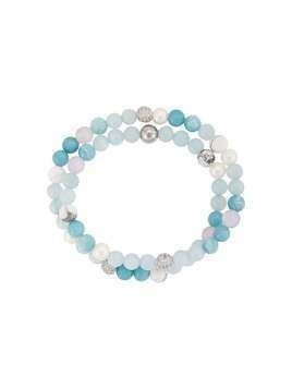 Nialaya Jewelry beaded double-strand bracelet - Blue