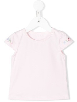 Lapin House floral print shortsleeved T-shirt - PINK