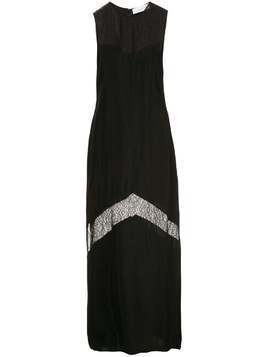 Marina Moscone lace detail dress - Black