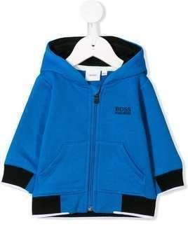 Boss Kids two-tone hooded sweatshirt - Blue
