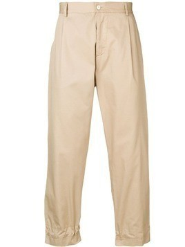 Corelate striped patch trousers - Neutrals