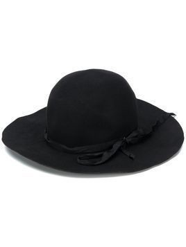 Horisaki Design & Handel bow-embellished hat - Black