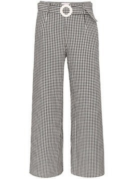 Solid & Striped gingham wide-leg trousers - Black
