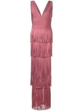 Hervé Léger fringed cocktail dress - Red