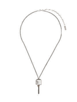 Saint Laurent key pendant necklace - Metallic