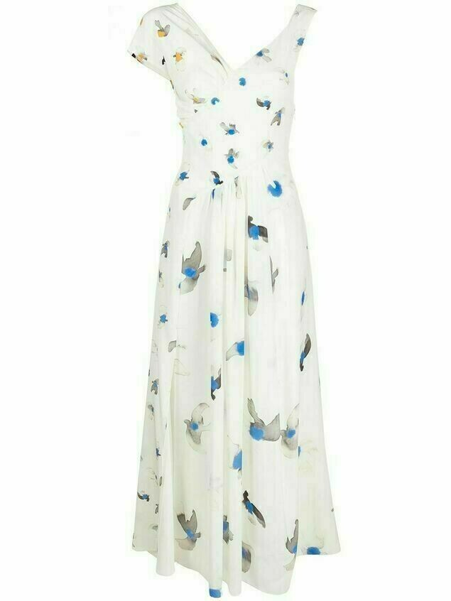 Nina Ricci watercolour print dress - White