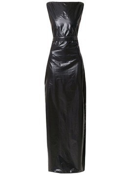 Amir Slama long panelled dress - Black