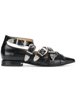 Toga Pulla buckled pointed loafers - Black