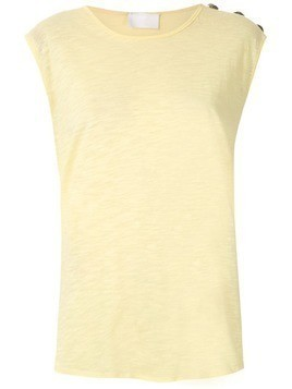 Andrea Bogosian decorative buttons tank - Yellow